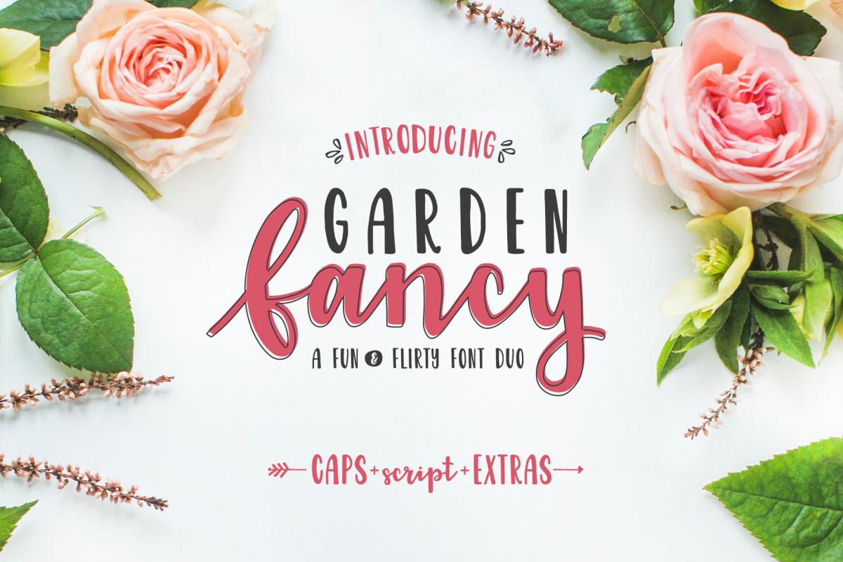 Garden Fancy Font Duo example image 1
