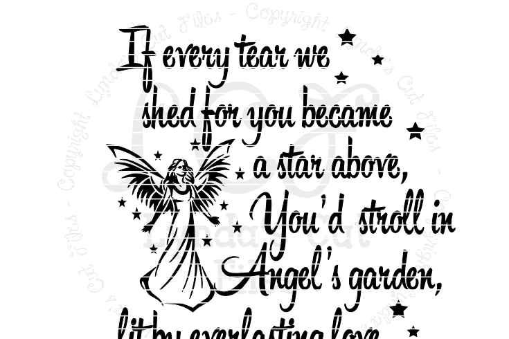 If Every Tear We Shed Memorial Svg Eps Dxf File