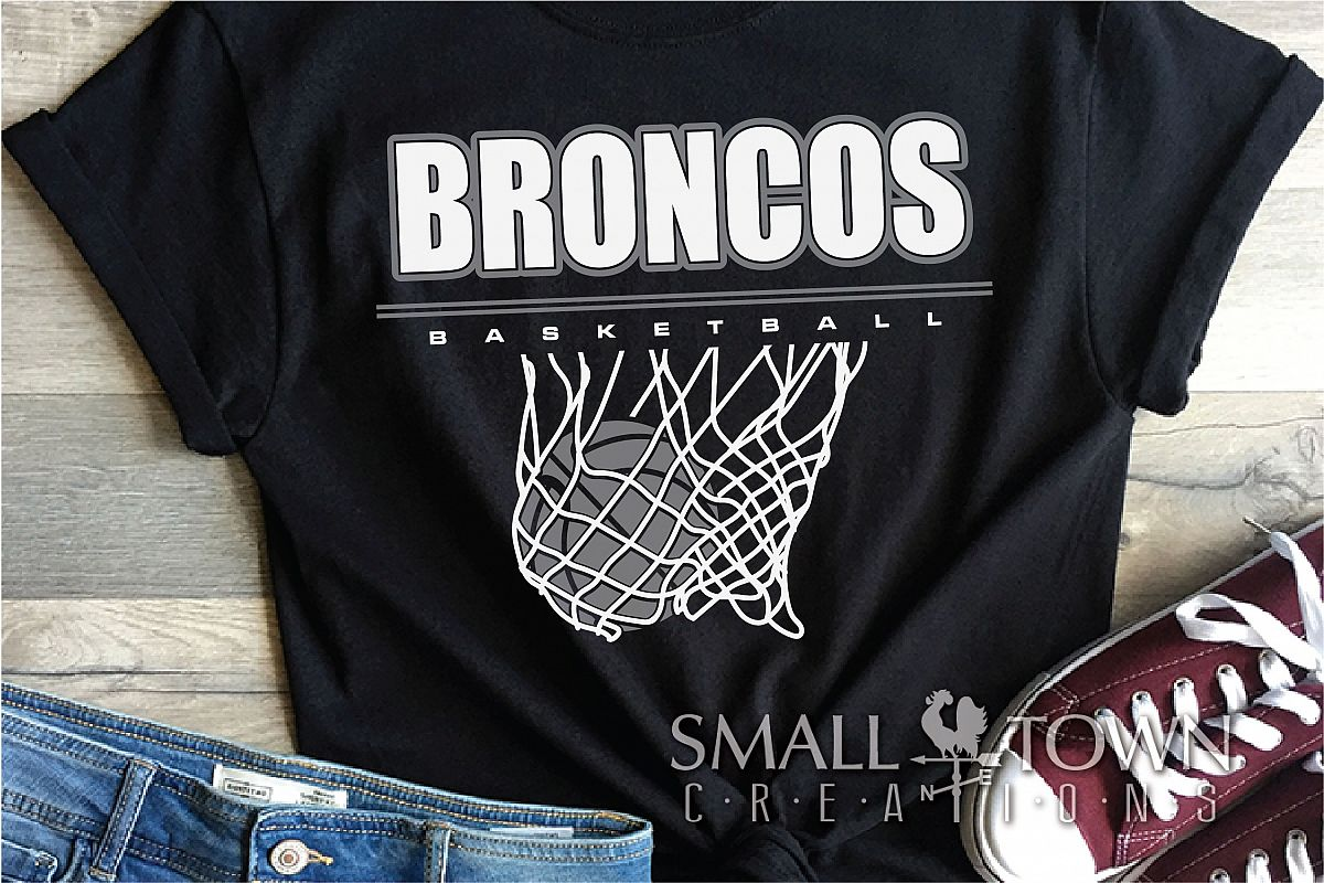 Bronco, Broncos Basketball, Team, Sport, PRINT, CUT & DESIGN example image 1