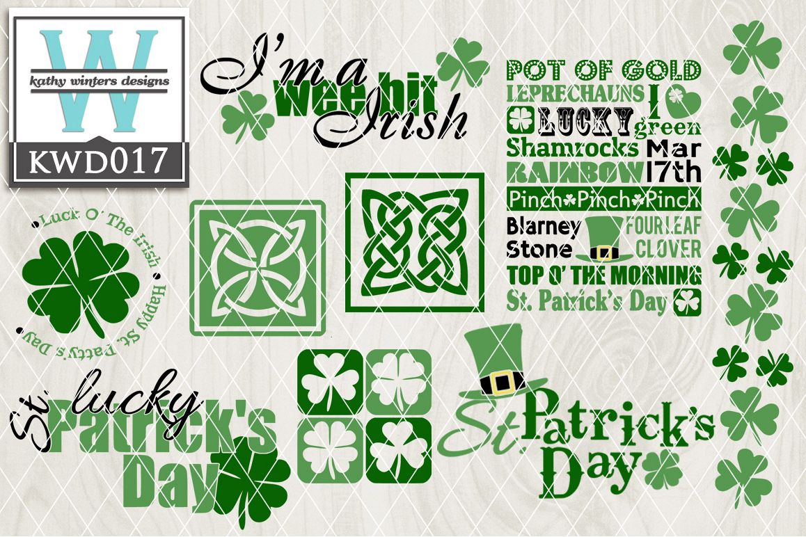 St. Patrick's Cutting File KWD017 example image 1