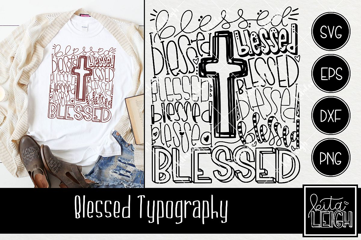 Blessed Typography example image 1