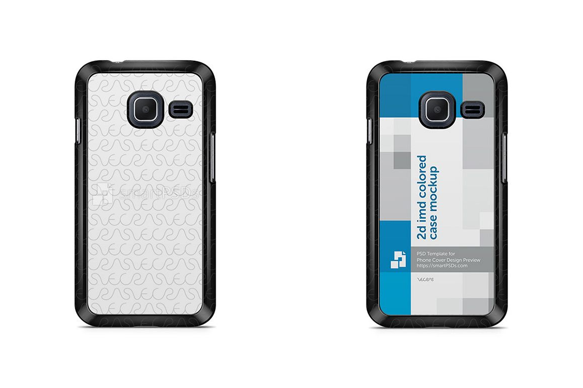 Samsung Galaxy J1 Mini 2d IMD Colored Mobile Case Design Mockup 2016 example image 1