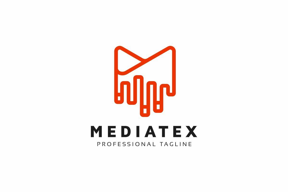 Mediatex M Letter Logo example image 1