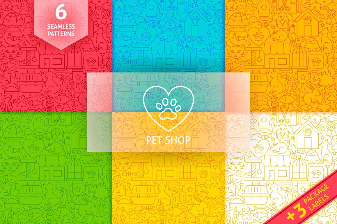 Pet Shop Line Tile Patterns