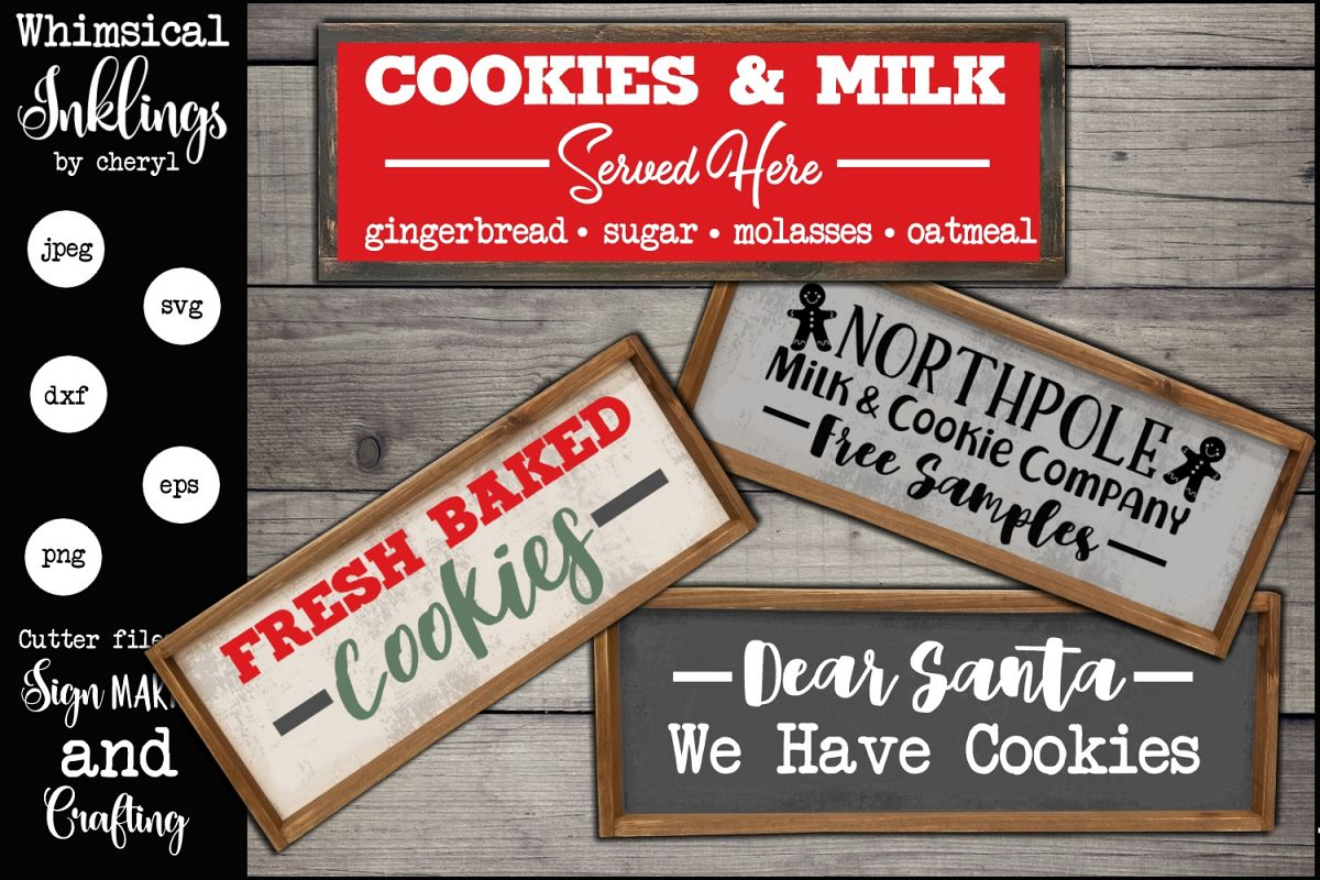Cookies And Milk SVG Set example image 1