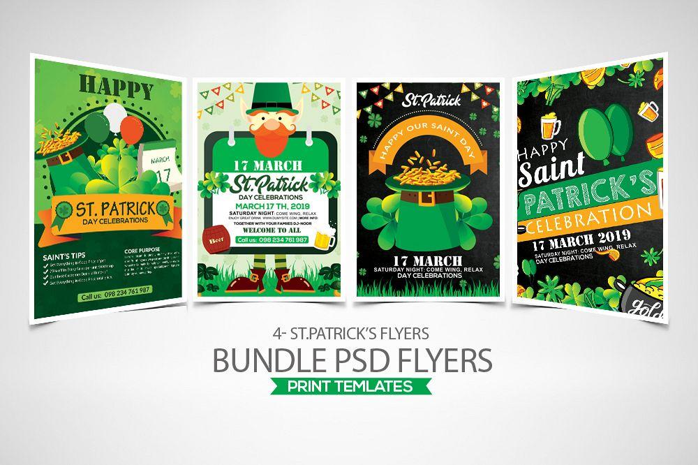 4 St. Patrick Flyers Bundle example image 1