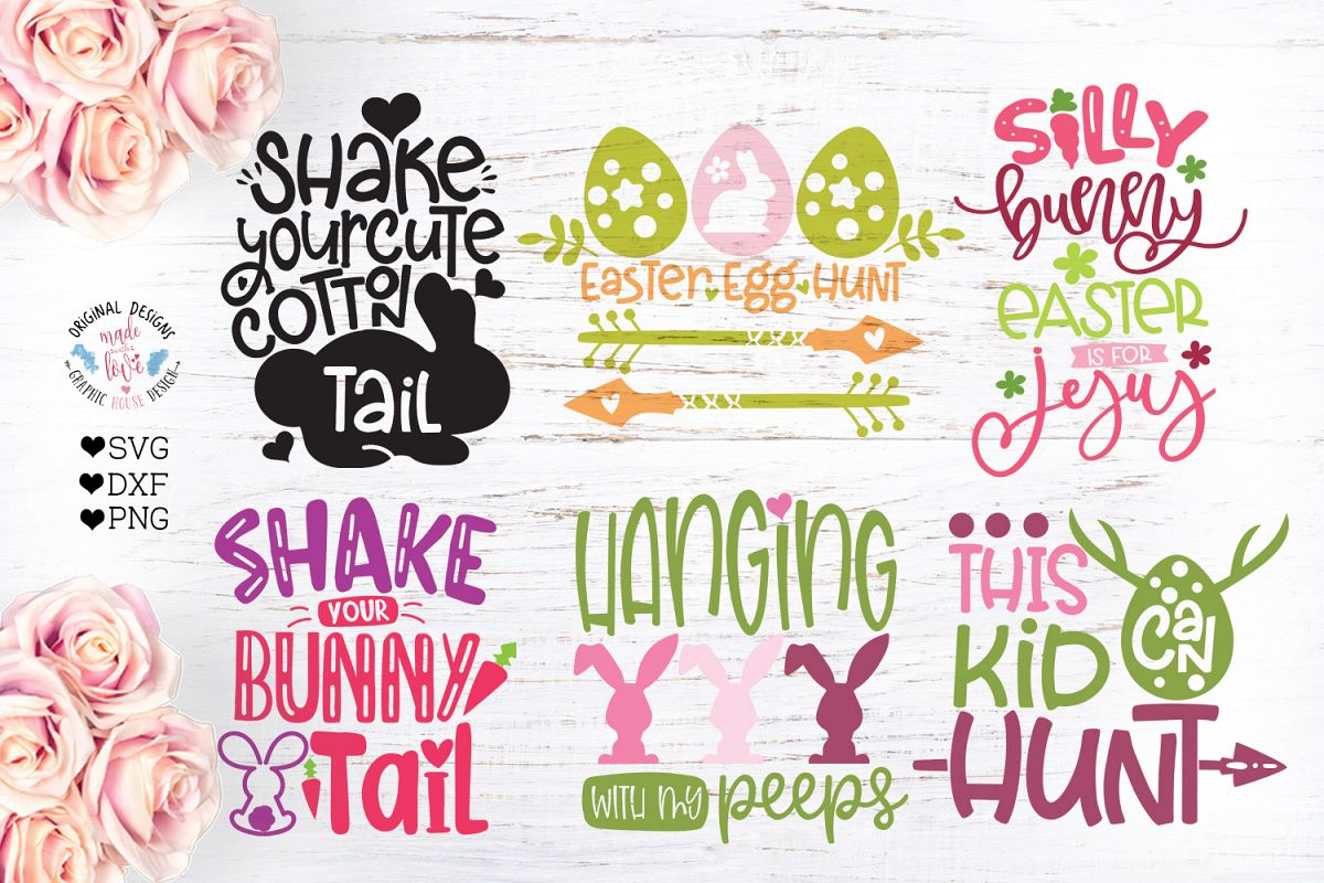 Mini Easter Kids Cut Files Bundle example image 1