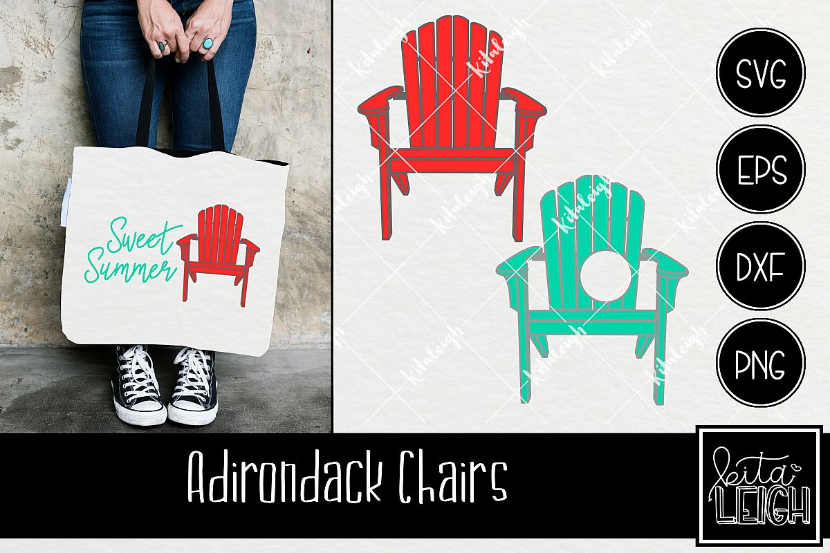 Adirondack Chair Monogram Svg