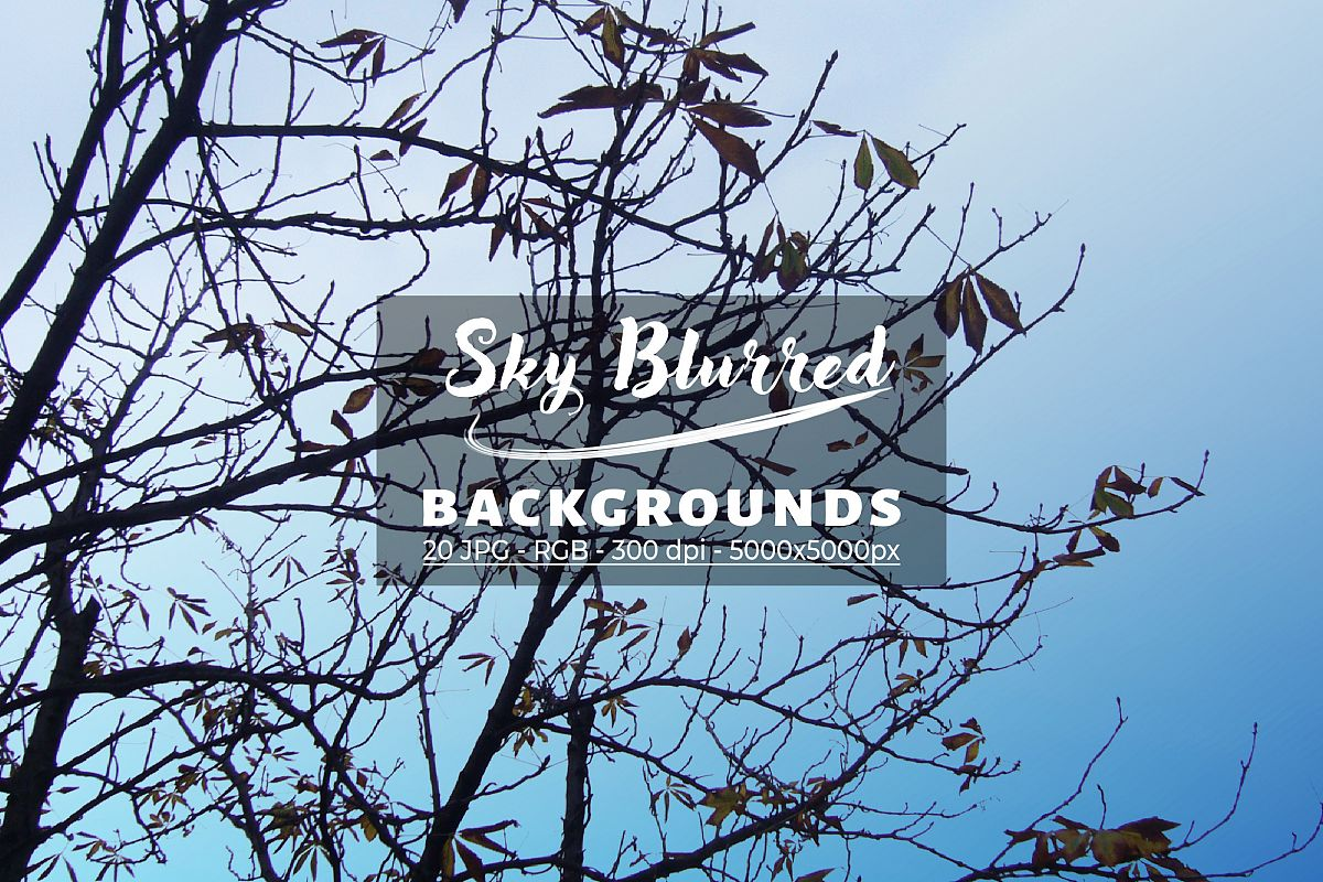 20 Sky Blurred Backgrounds JPG in High Resolution example image 1