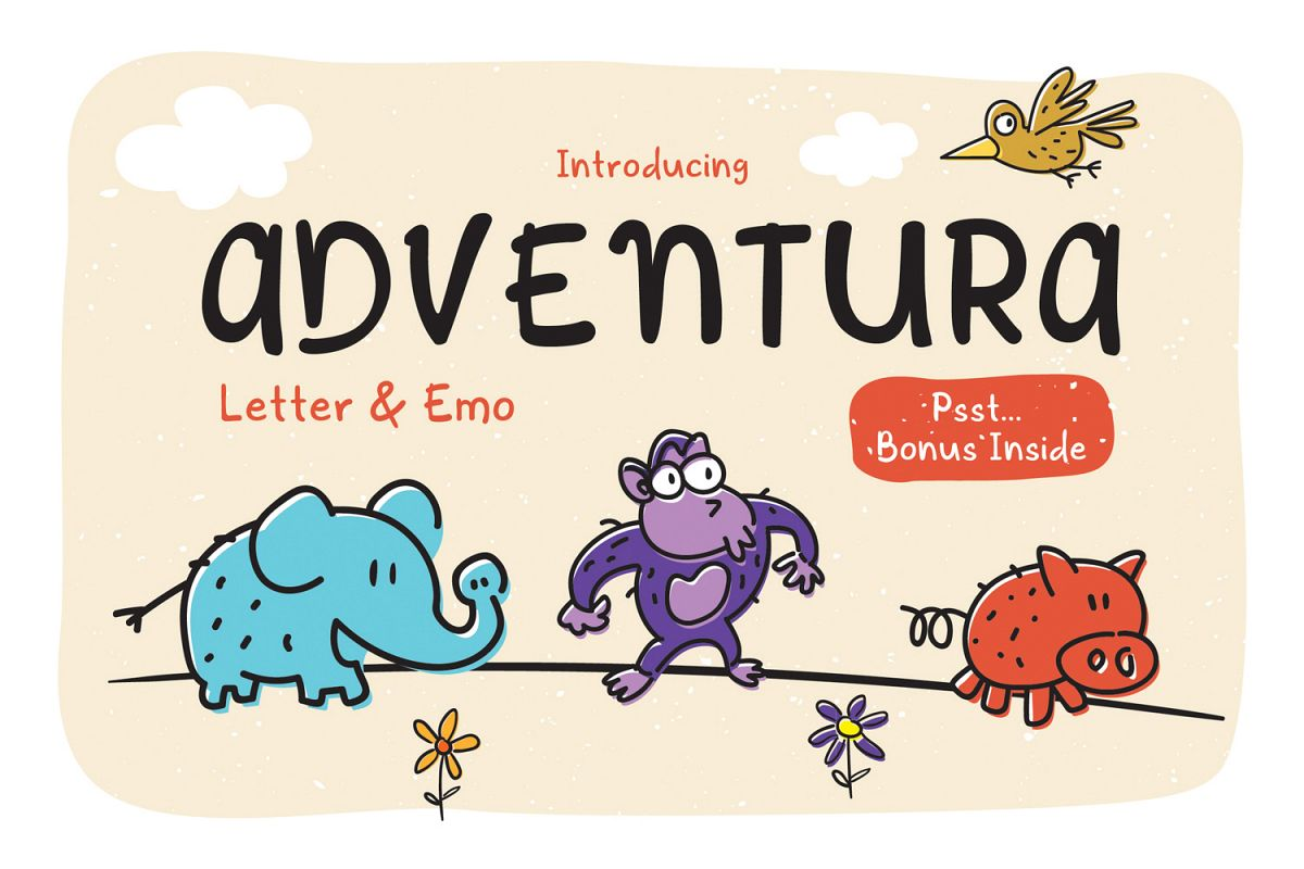 Adventura Letter and Emo example image 1