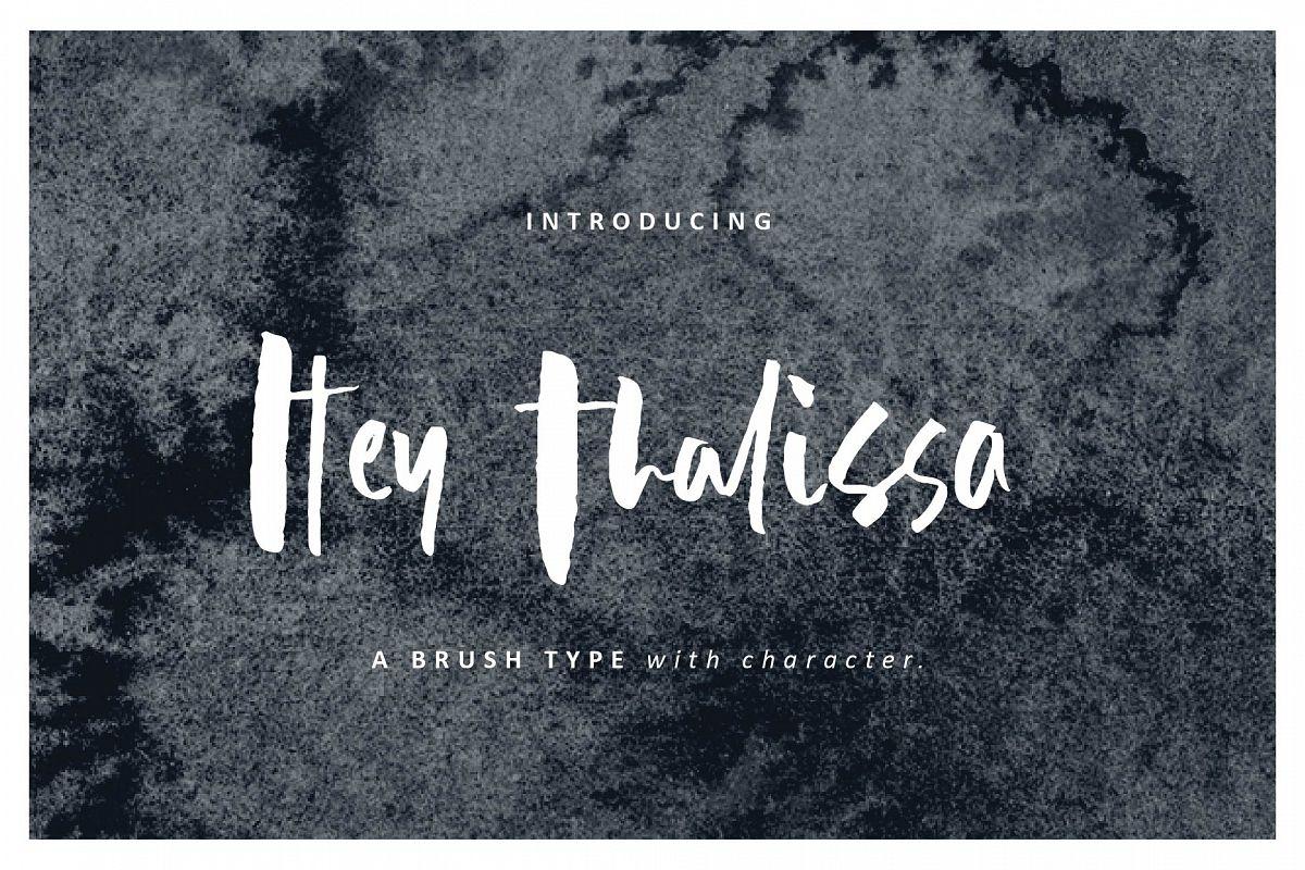 Hey Thalissa Signature Font example image 1
