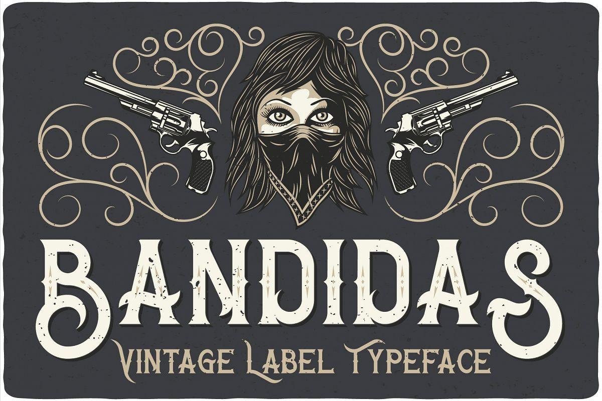 Bandidas - font and t-shirt designs example image 1