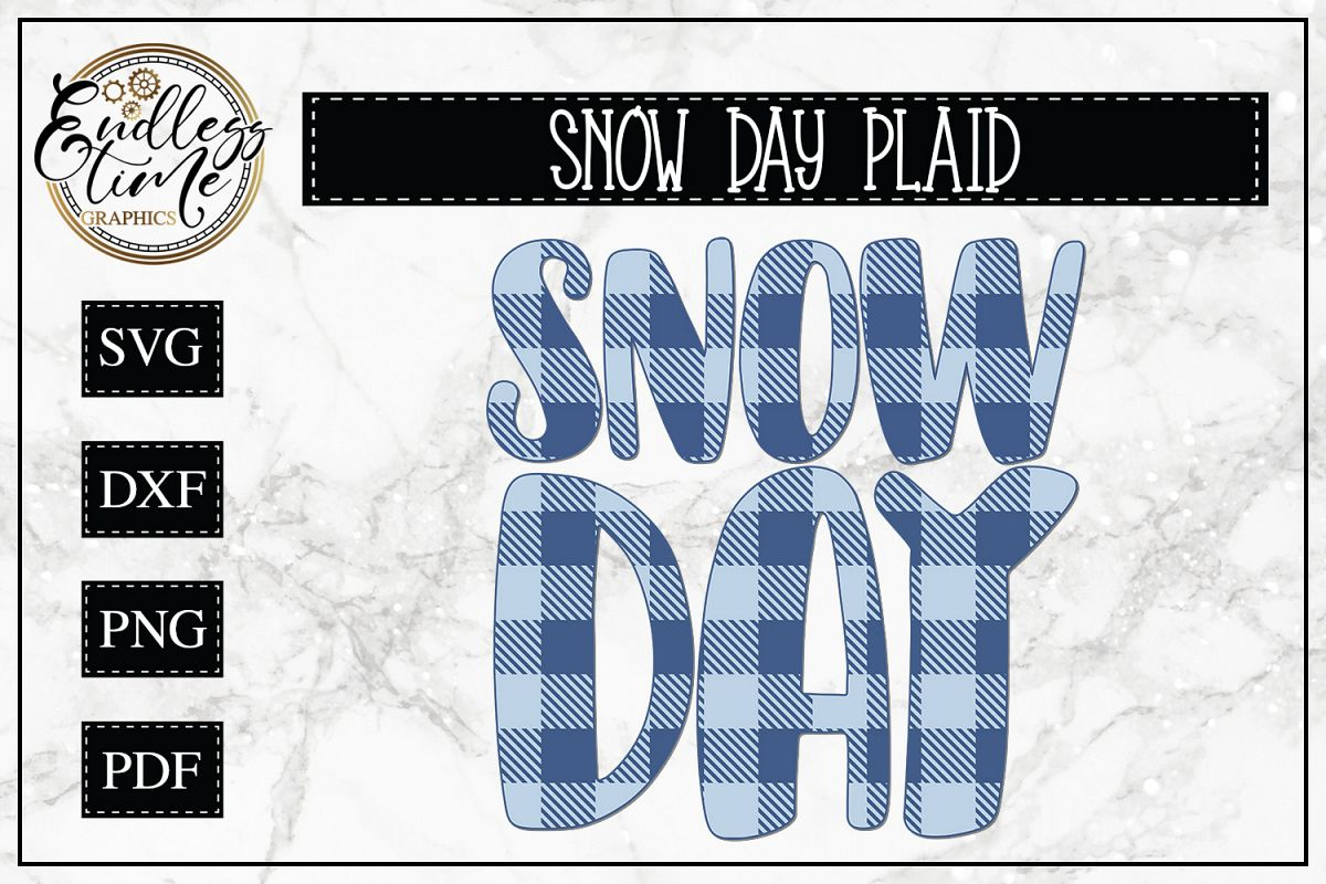 Plaid Snow Day SVG - a Cute and Chilly Cut File example image 1