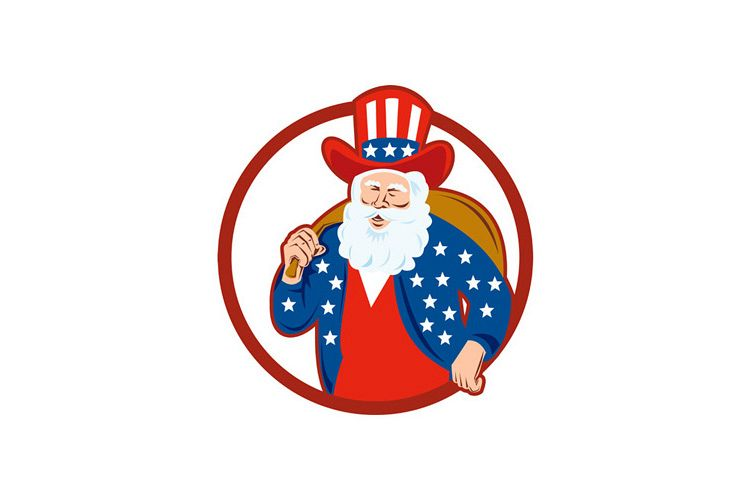 American Father Christmas Santa Claus example image 1
