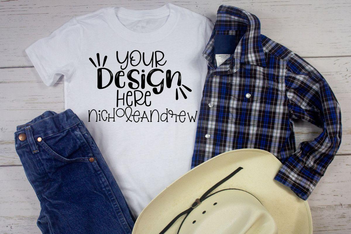Cowboy Boys T-Shirt Mock Up example image 1