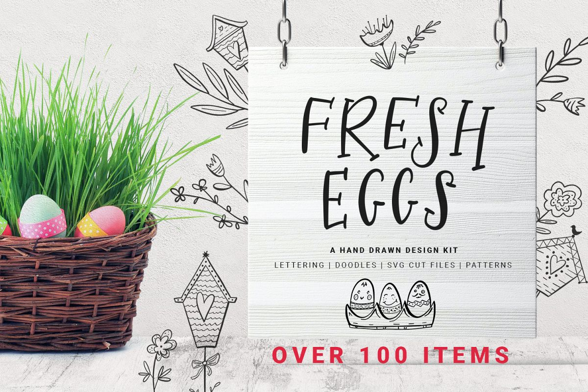 Fresh Eggs - Easter design kit example image 1