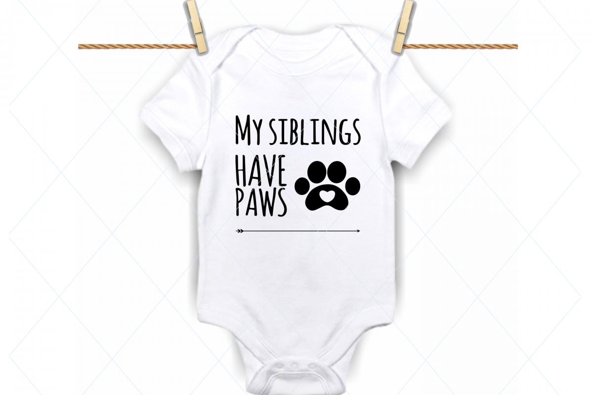 My siblings have paws svg, siblings svg, brother, sister svg example image 1