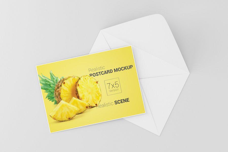 Postcard invitation card mockup 7x5 design bundles postcard invitation card mockup 7x5 example image stopboris Image collections