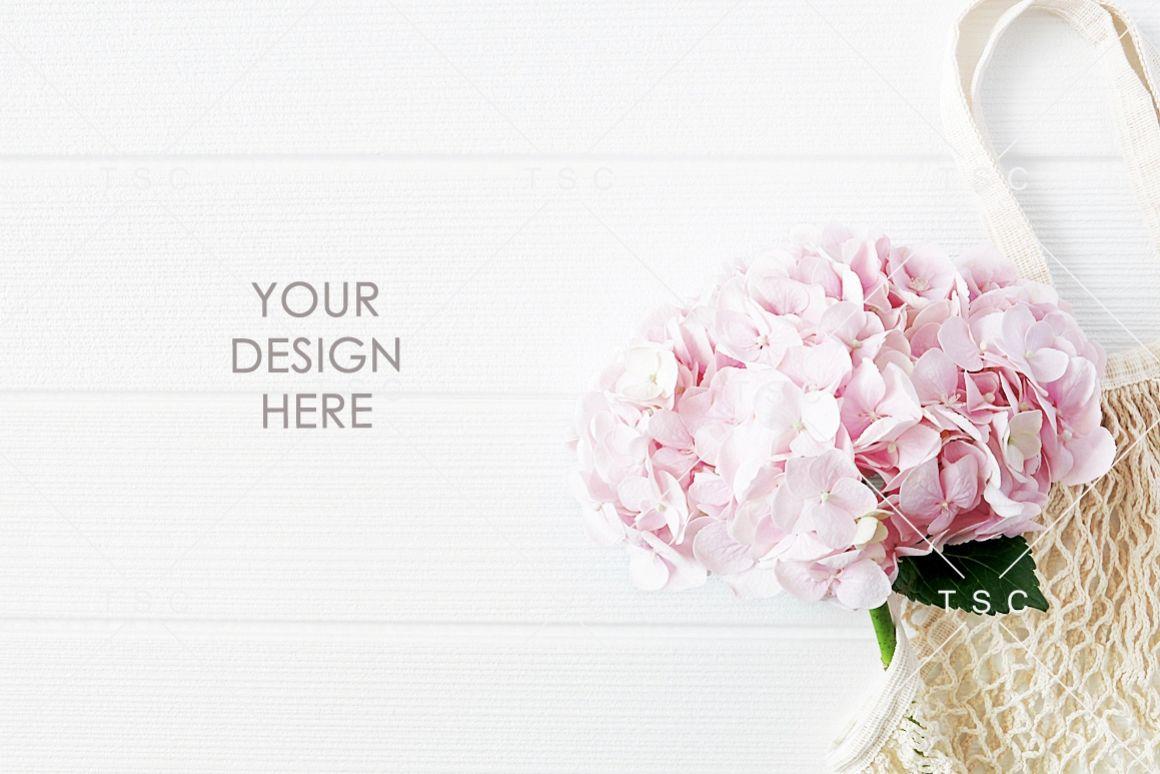 Pink Hydrangea Background Photo example image 1