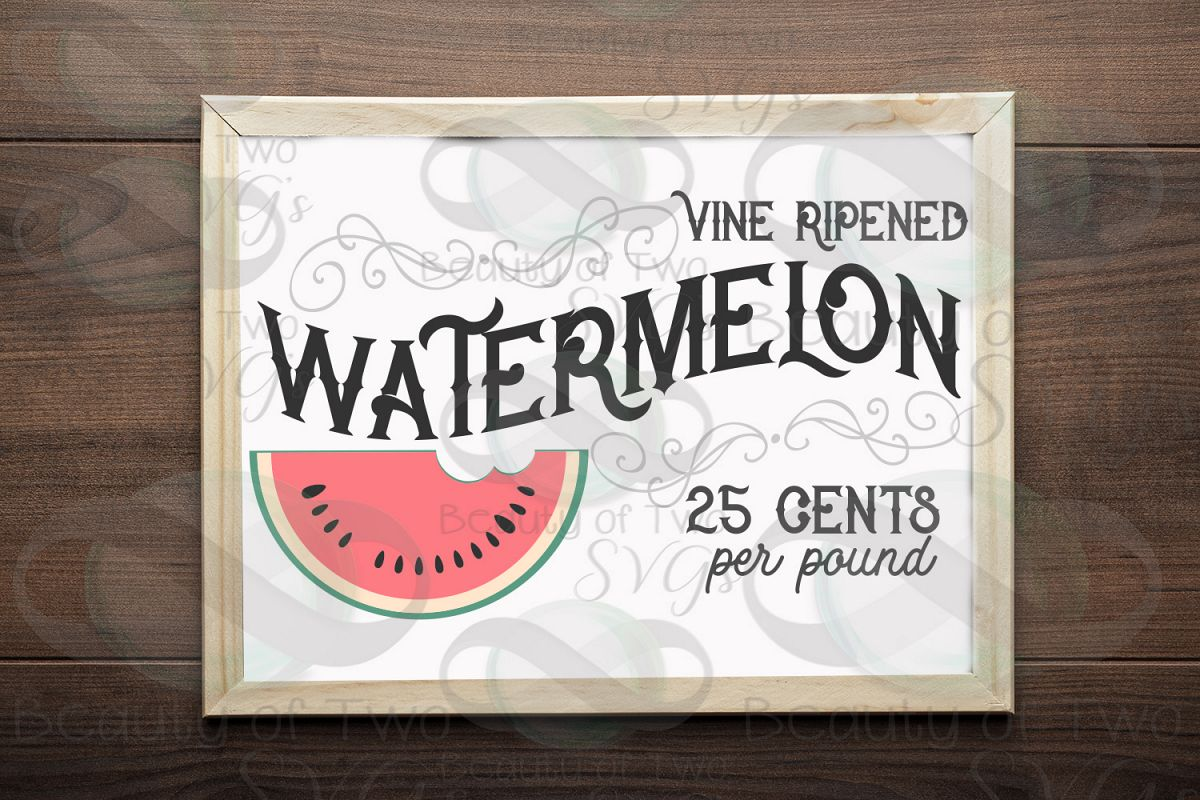 Watermelon vintage svg and png, Watermelon svg, summer svg example image 1