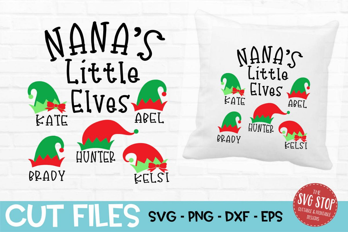 Nana Little Elves Christmas SVG, PNG, DXF, EPS example image 1