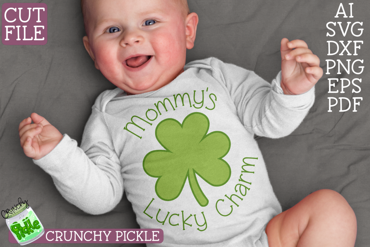 Mommy's Lucky Charm - St Patrick's Day SVG File example image 1