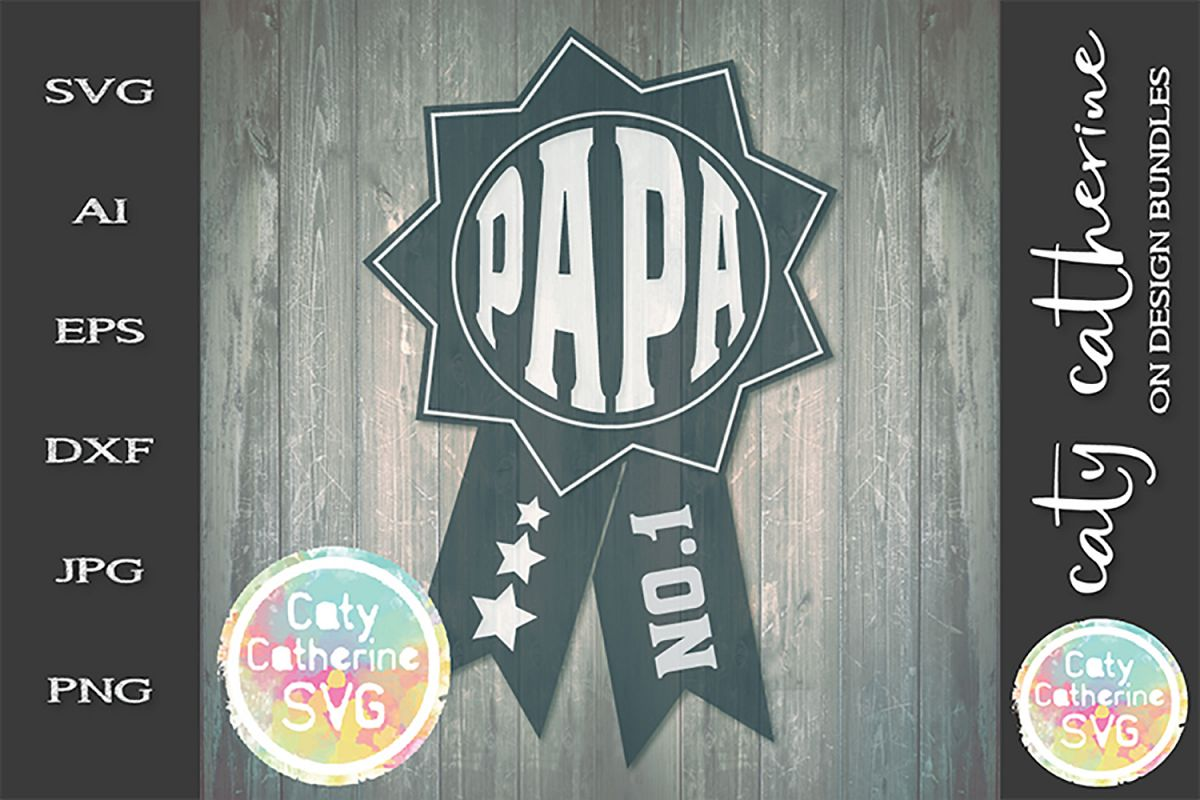 Papa Father's Day Award SVG Cut File example image 1
