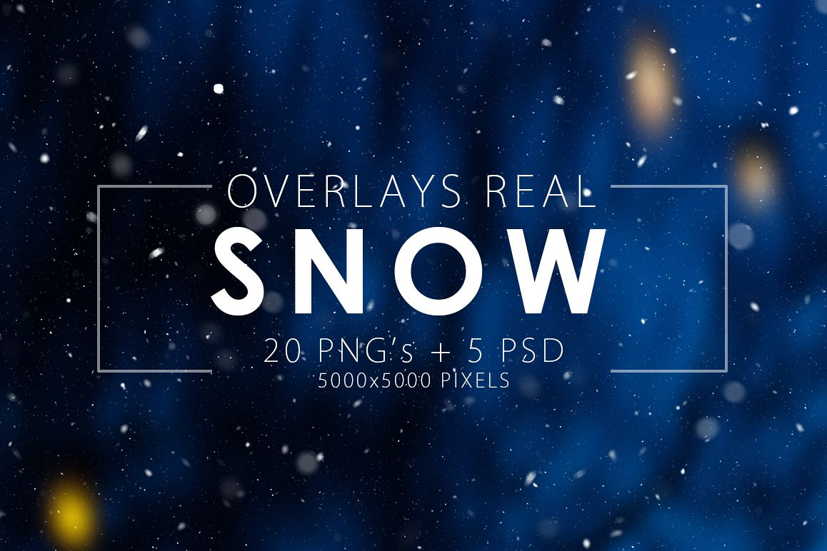 Real Snow Overlays example image 1