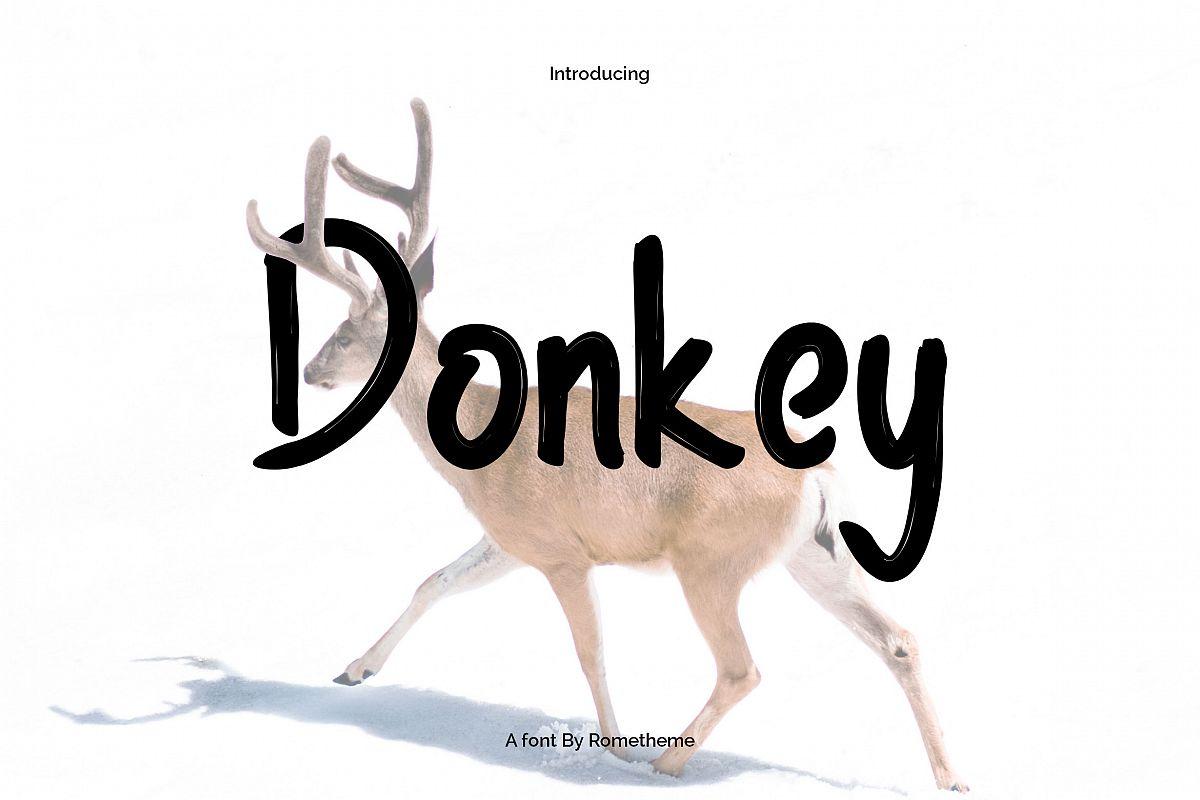 Donkey Font example image 1