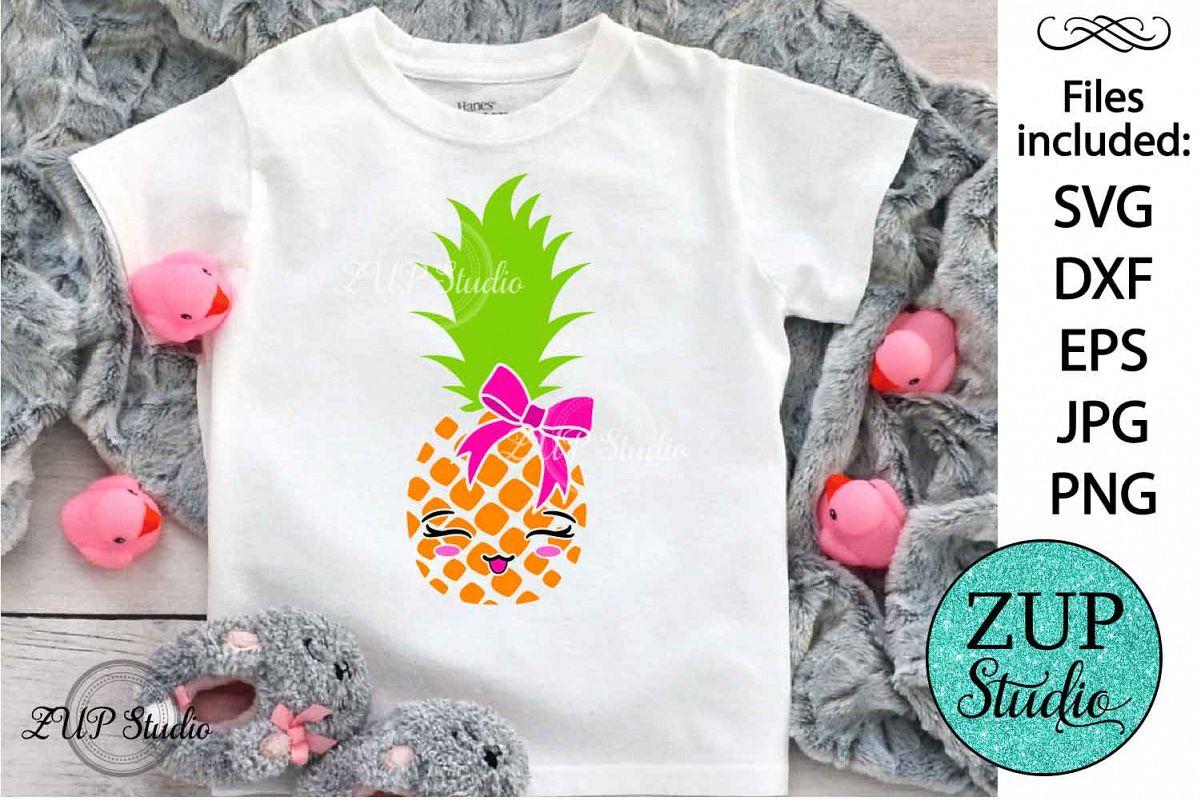 Kawaii Pineapple Digital Cutting files file 149 example image 1