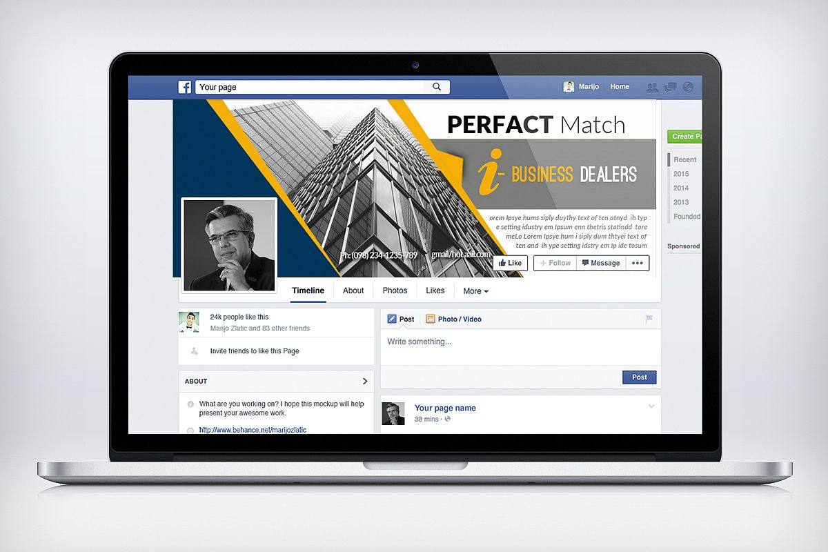 Business Facebook Timelines10 example image 1