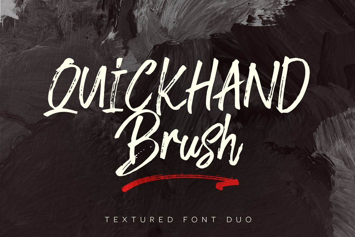 Quickhand Font Duo example image 1