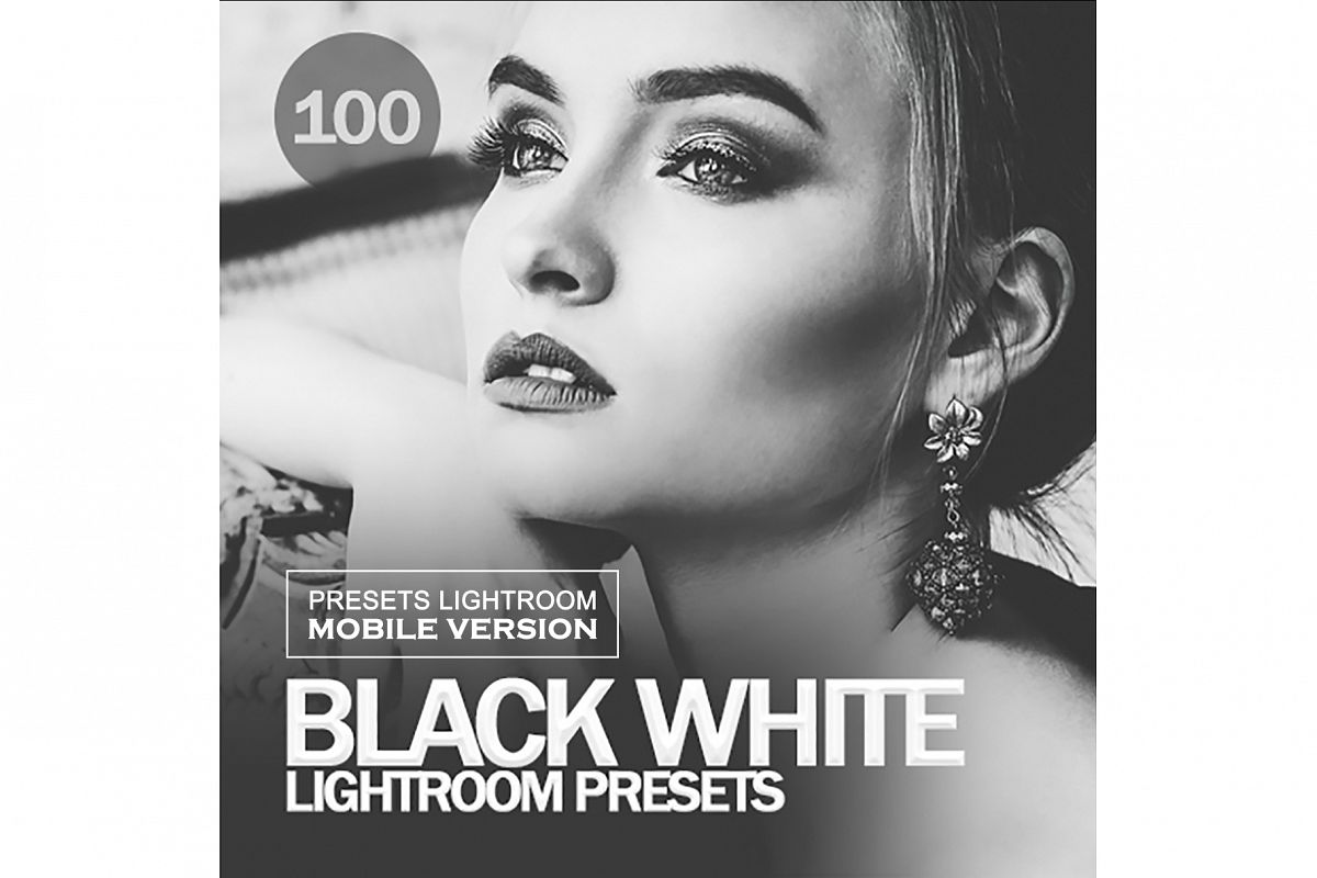 Black White BW Lightroom Mobile Presets example image 1