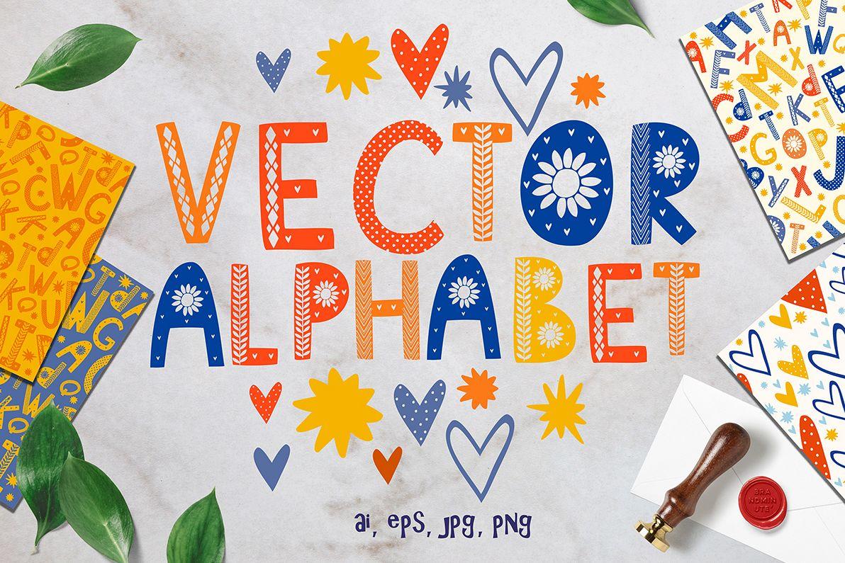 Color Scandinavian style. vector alphabet example image 1