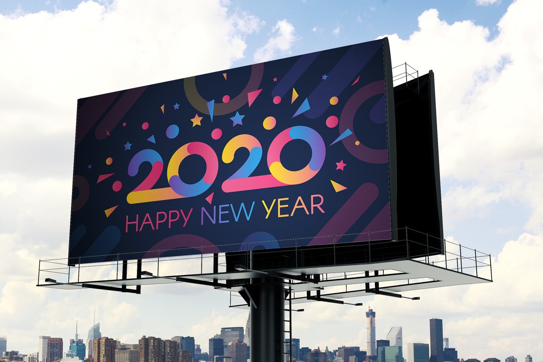 Modern 2020 Greeting Card example image 1