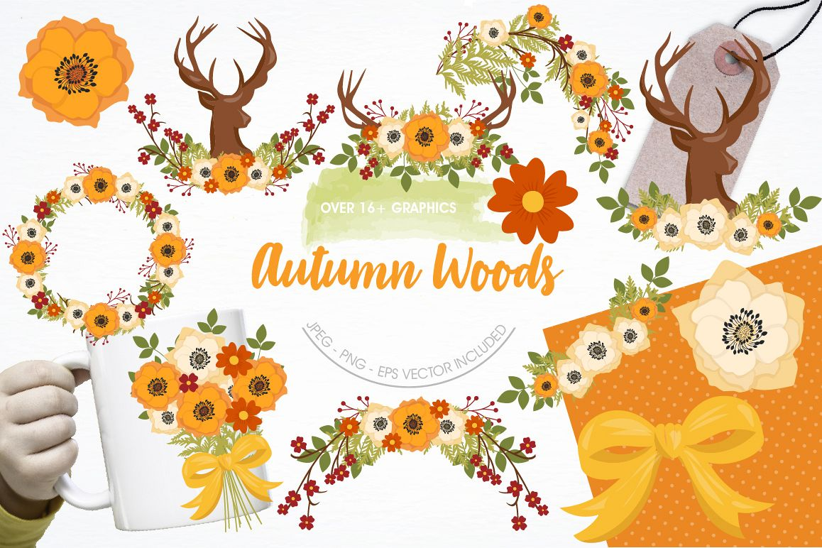Autumn Woods graphics and illustrations example image 1
