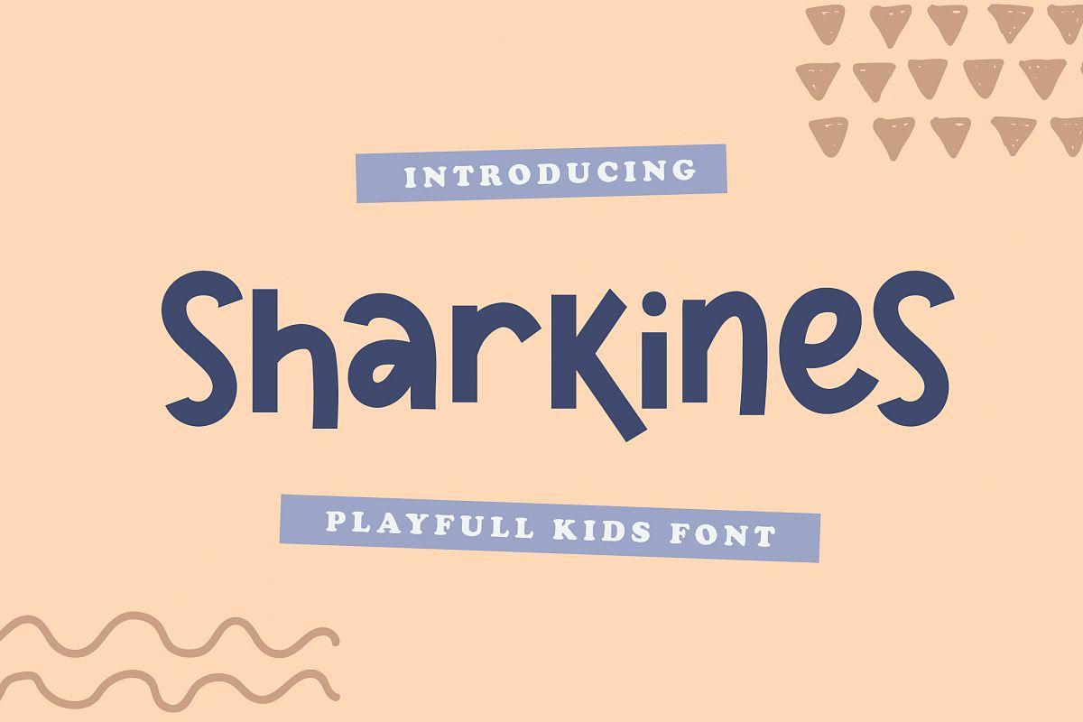 Sharkines   Playful Kids Font example image 1