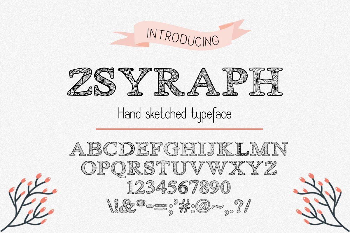 Zsyraph Font example image 1