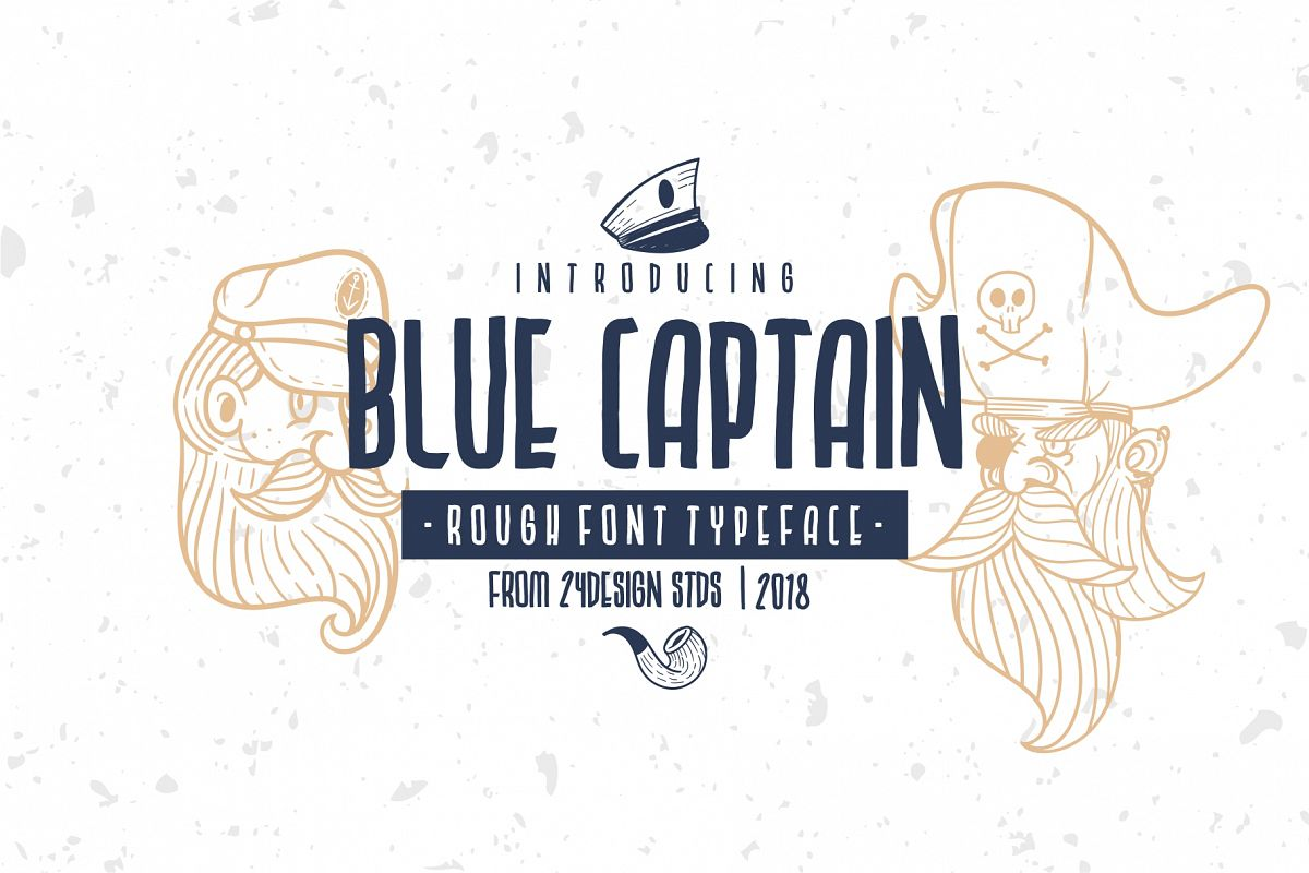 BLU CAPTAIN ROUGH FONT example image 1