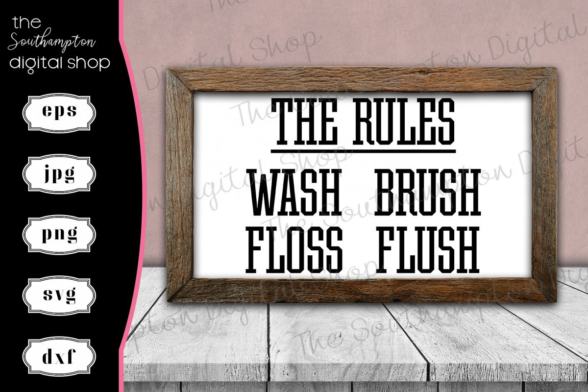 The Rules Bathroom sign example image 1