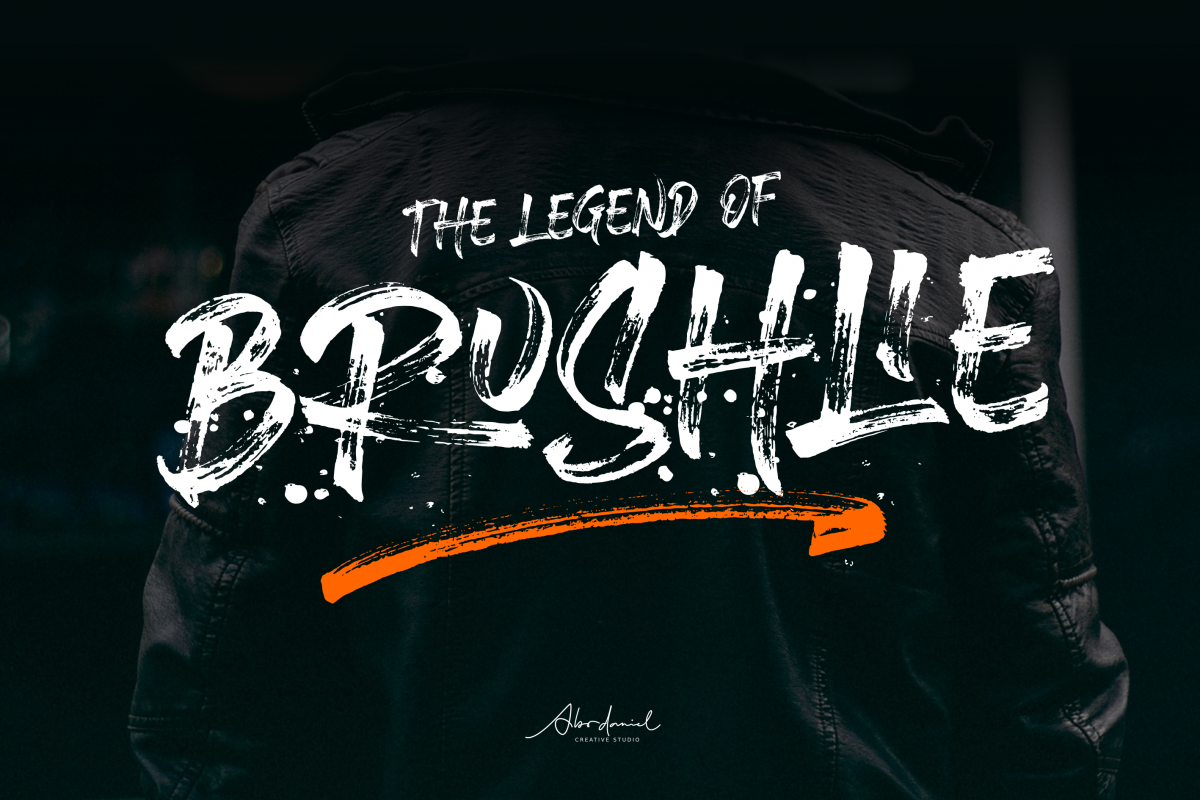 Brushlie - urban typeface - example image 1