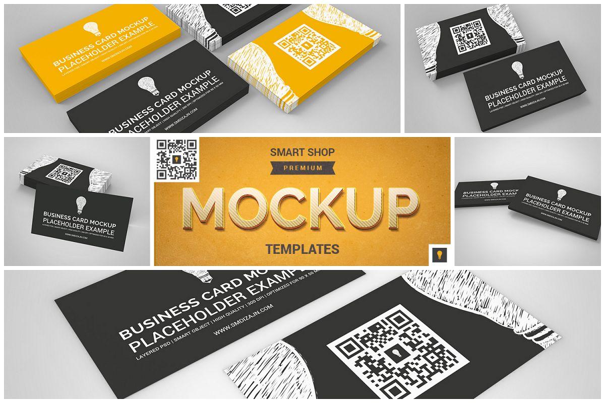 Business Card Mockup Set example image 1