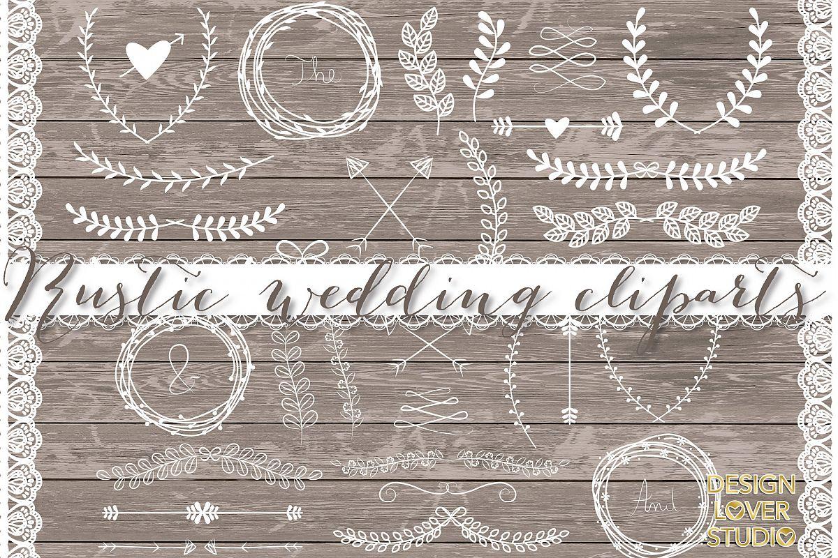 VECTOR Laurels, Flower, Wedding clipart example image 1