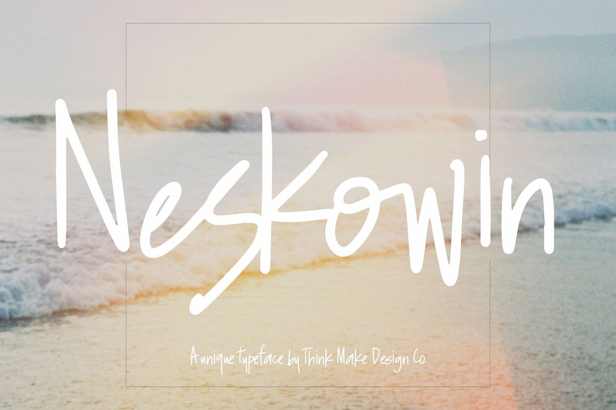 Neskowin Font with Fun Ligatures! example image 1