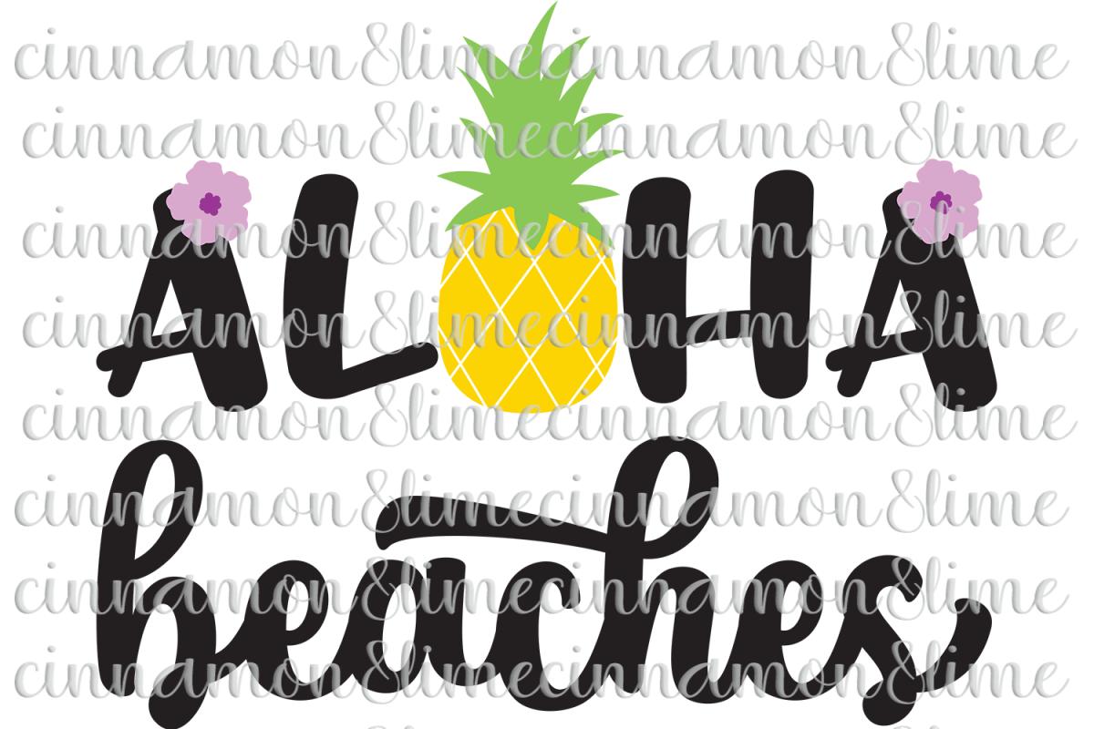 Aloha Beaches SVG example image 1