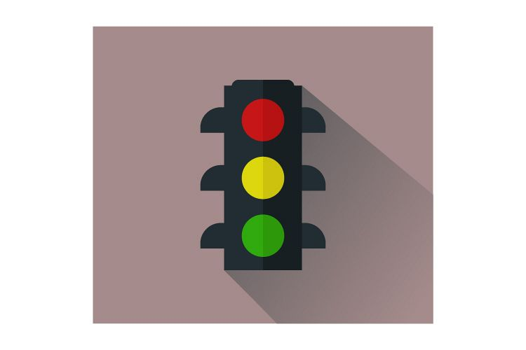 Traffic light icon example image 1
