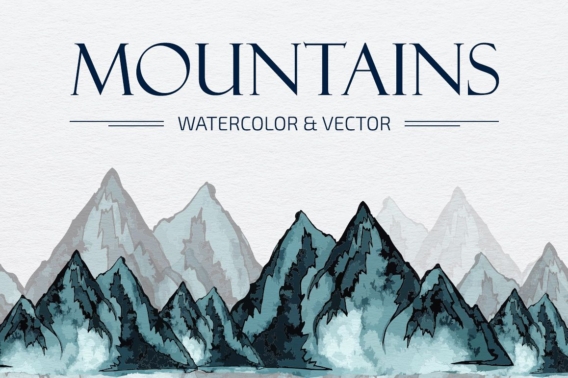 Mountains HandDrawn Vector example image 1