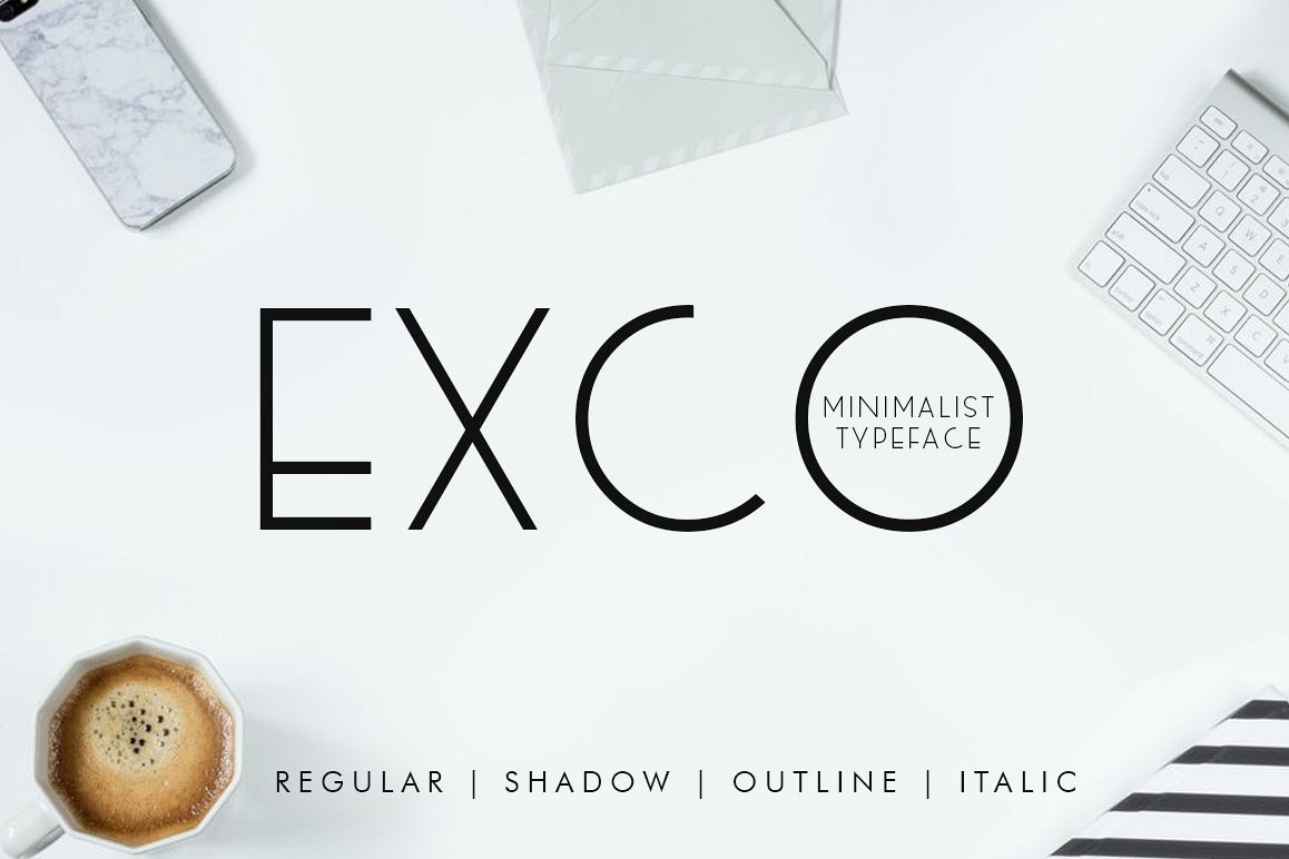 Exco Typeface example image 1