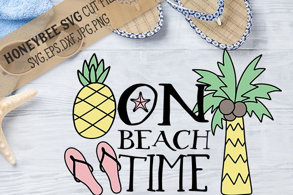On Beach Time cut file example image 1