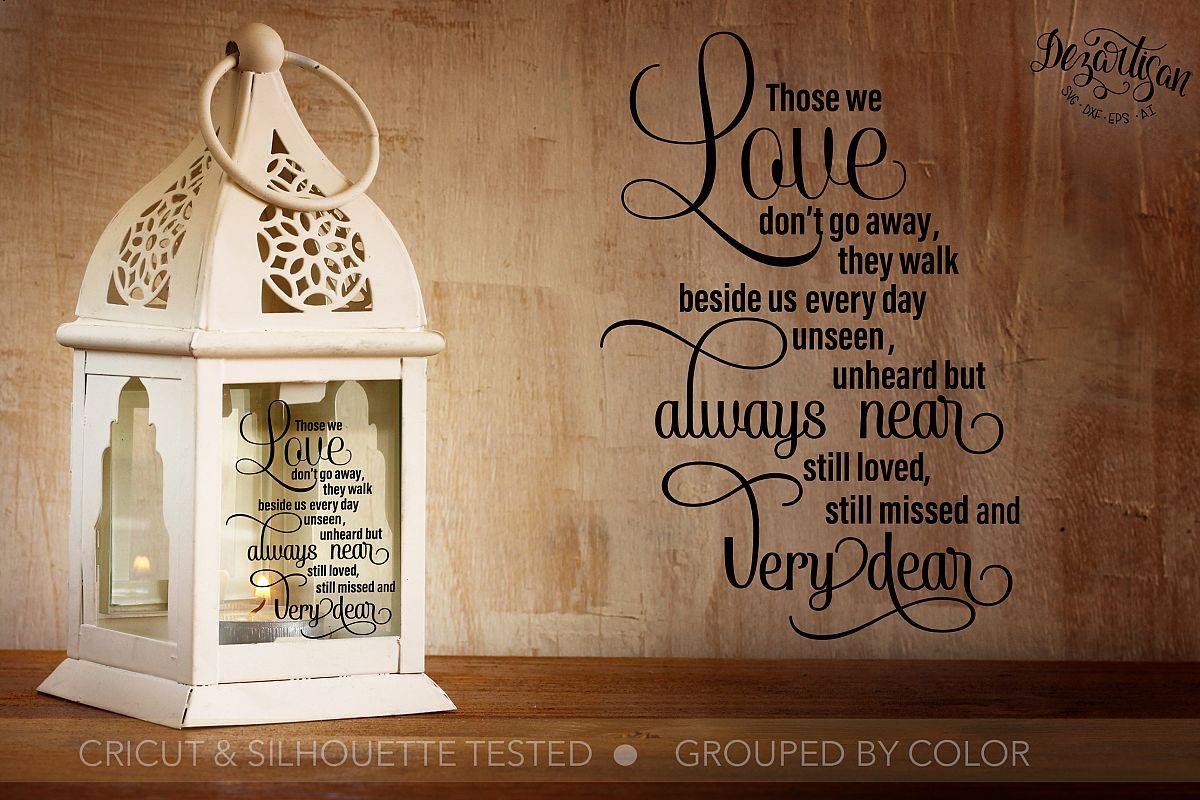 Love always near Memorial Bereavement SVG | DXF example image 1